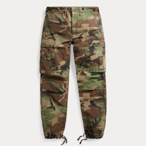 Ralph Lauren RRL Camo Cotton Surplus Cargo Pants